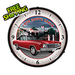 Collectable Sign and Clock 1972 Monte Carlo Backlit Wall Clock