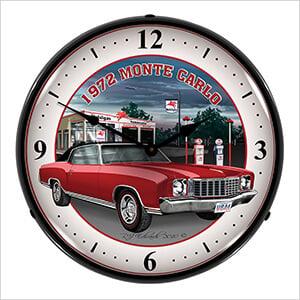 1972 Monte Carlo Backlit Wall Clock