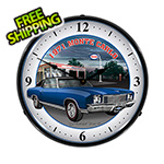 Collectable Sign and Clock 1971 Monte Carlo Backlit Wall Clock
