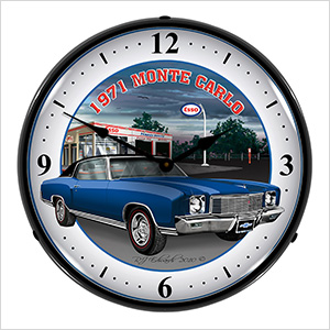 1971 Monte Carlo Backlit Wall Clock