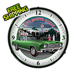 Collectable Sign and Clock 1970 Monte Carlo Backlit Wall Clock