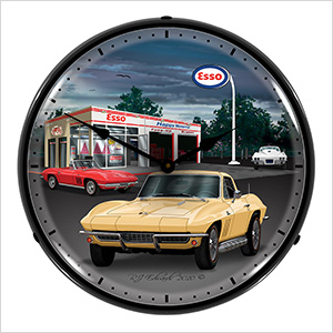 1965 Corvette Backlit Wall Clock