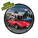 Collectable Sign and Clock 1974 Corvette Backlit Wall Clock