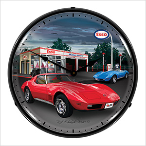 1974 Corvette Backlit Wall Clock