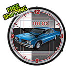 Collectable Sign and Clock 1964 GTO Backlit Wall Clock