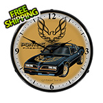 Collectable Sign and Clock Pontiac Firebird Backlit Wall Clock