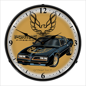 Pontiac Firebird Backlit Wall Clock