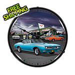 Collectable Sign and Clock 1968 GTO Backlit Wall Clock