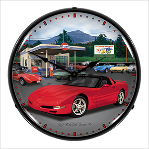 Chevy Corvette C5 Backlit Wall Clock