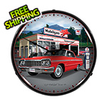 Collectable Sign and Clock 1964 Chevy Impala Backlit Wall Clock