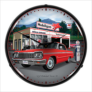 1964 Chevy Impala Backlit Wall Clock