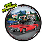 Collectable Sign and Clock 1969 Chevelle Backlit Wall Clock