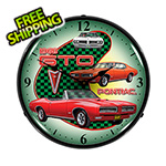 Collectable Sign and Clock 1968 Pontiac GTO Backlit Wall Clock