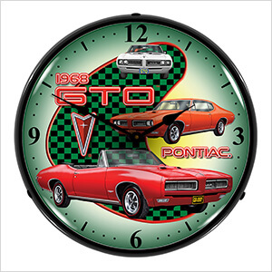 1968 Pontiac GTO Backlit Wall Clock