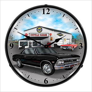 1966 Chevelle Backlit Wall Clock