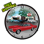 Collectable Sign and Clock 1967 GTO Backlit Wall Clock