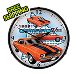 Collectable Sign and Clock 1969 Camaro Z28 Backlit Wall Clock