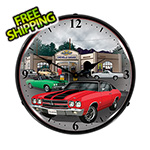 Collectable Sign and Clock 1970 Chevelle Backlit Wall Clock