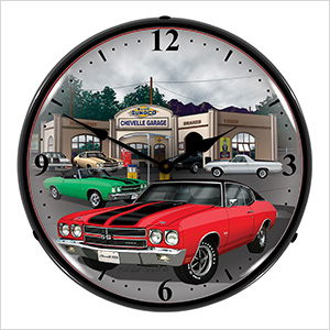 1970 Chevelle Backlit Wall Clock