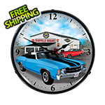 Collectable Sign and Clock 1971 Chevelle Backlit Wall Clock