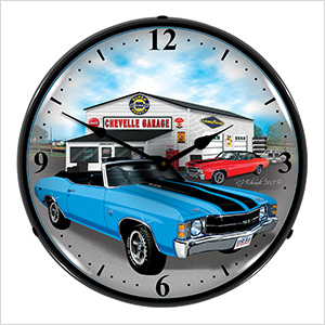 1971 Chevelle Backlit Wall Clock