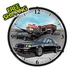Collectable Sign and Clock 1987 Buick Grand National Backlit Wall Clock