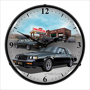 1987 Buick Grand National Backlit Wall Clock