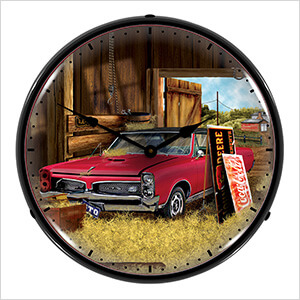 Hidden Treasure GTO Backlit Wall Clock