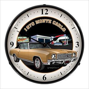 1970 Monte Carlo Backlit Wall Clock