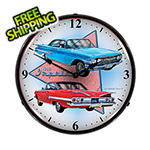Collectable Sign and Clock 1960 Impala Backlit Wall Clock