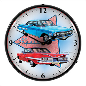 1960 Impala Backlit Wall Clock