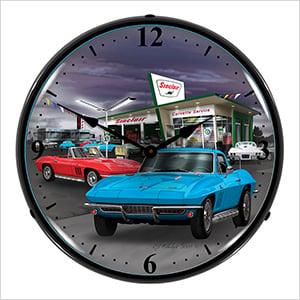 1966 Vette Backlit Wall Clock