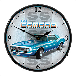 1968 Chevy Camaro SS Backlit Wall Clock