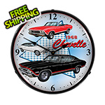 Collectable Sign and Clock 1968 Chevelle Backlit Wall Clock