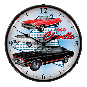 1968 Chevelle Backlit Wall Clock