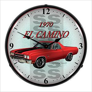 1970 El Camino Backlit Wall Clock