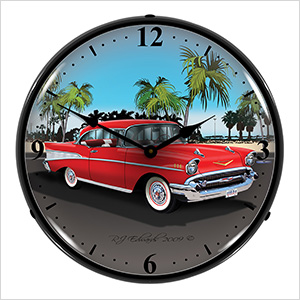 1957 Chevy Backlit Wall Clock