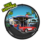 Collectable Sign and Clock 1959 Corvette Backlit Wall Clock