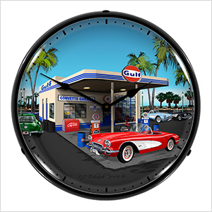 1959 Corvette Backlit Wall Clock