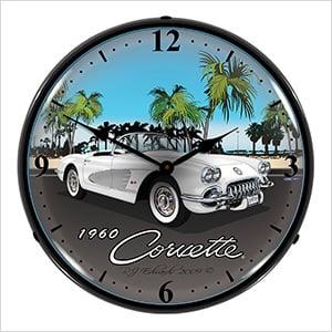 1960 Corvette Backlit Wall Clock