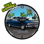 Collectable Sign and Clock 1967 Chevelle Backlit Wall Clock