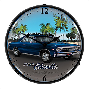 1967 Chevelle Backlit Wall Clock