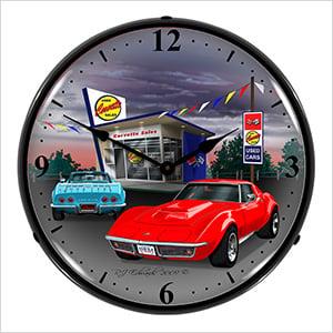 1968 Corvette Backlit Wall Clock