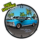 Collectable Sign and Clock 1966 Chevy Nova Backlit Wall Clock