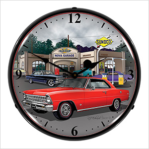 1967 Chevy Nova Backlit Wall Clock