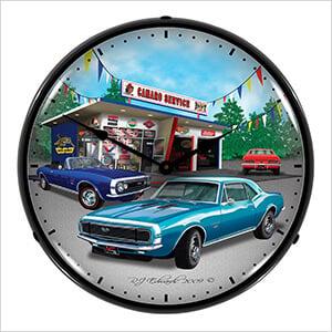 1967 Camaro Backlit Wall Clock