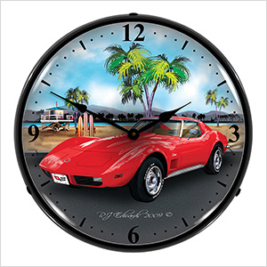 1973 Corvette Backlit Wall Clock