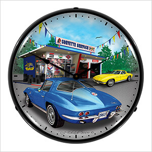 1963 Corvette Backlit Wall Clock