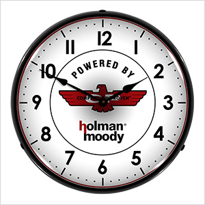 Holman Moody Backlit Wall Clock
