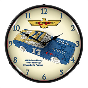 Holman Moody Torino Backlit Wall Clock